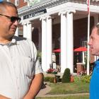 two men in front of Charlottetown Hotel