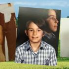 Three photos of Jeff Brant show him as a child, teen and adult.