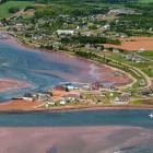 Airplne photo of the village of North Rustico