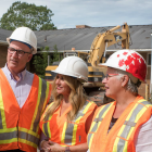 Stephen Arsenault, Minister Chris Palmer, Minister Tina Mundy, Minister Paula Biggar and Regan MacLellan.