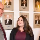 Premier Wade MacLauchlan, Mawi'omi Day coordinator, Kindra Bernard, Abegweit First Nation Chief, Brian Francis