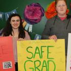 Breanna MacAdam and Daniel Cousins are ready for a safe grad from Morell Regional High School