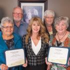 Minister Mundy standing with five winners of 2016 Senior Islanders of the Year Award winners