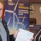 Summerside Mayor Bill Martin and Transportation, Infrastructure and Energy Minister Paula Biggar