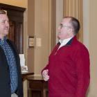 Hotel Association President Craig Jones with Economic Development and Tourism Minister Chris Palmer