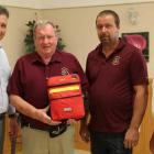 Minister Heath MacDonald, Lions Club members Doug Cook and Jason Lamont and Minister Pat Murphy.
