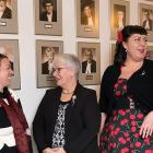 Photos shows Minister Paula Biggar in the middle of a group of five women.