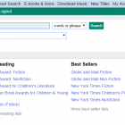 Screen shot of the PEI Public Library Service Online Catalogue