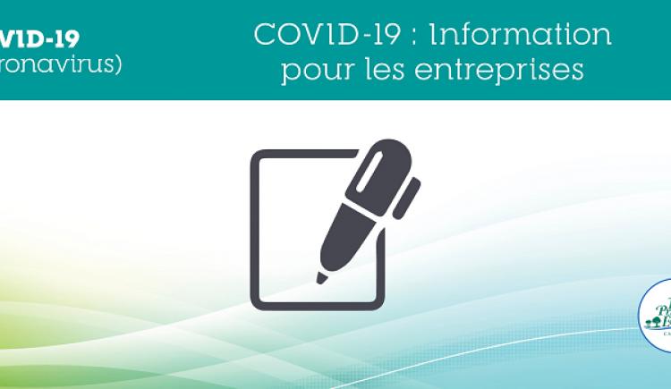 COVID-19 : Information pour les employeurs