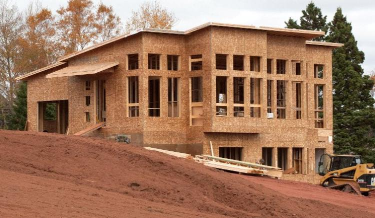 New house under construction to illustrate building permit