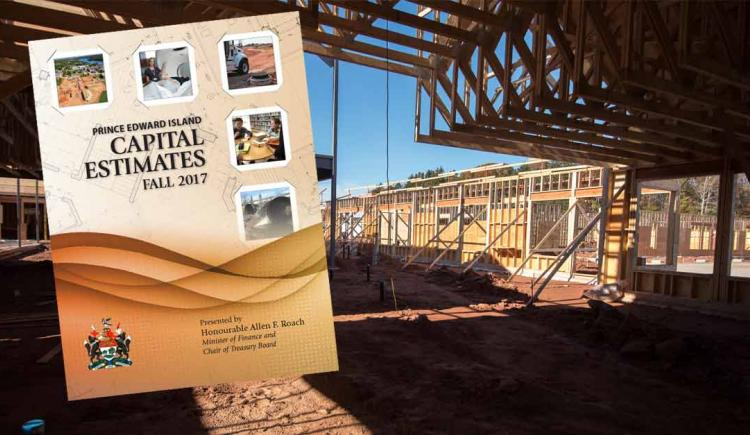 Cover of Capital Estimates in foreground and construction site in background