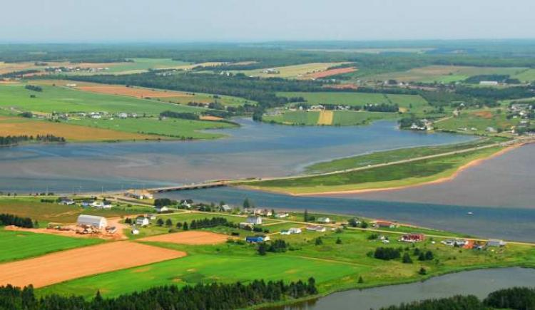 Aerial view of Souris area