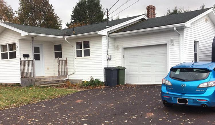 Exterior shot of PEI home in rural community