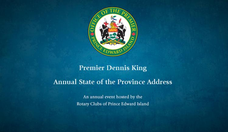 Image of Premier's coat of Arms and his name