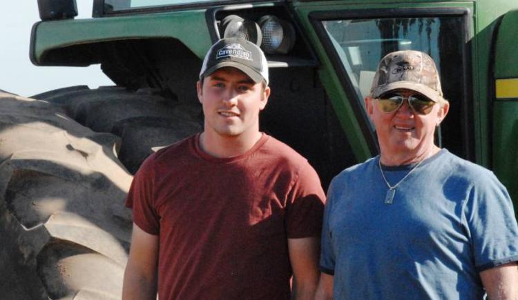 ALUS IPE, Will Brown et John Hayden à Circle H Farms