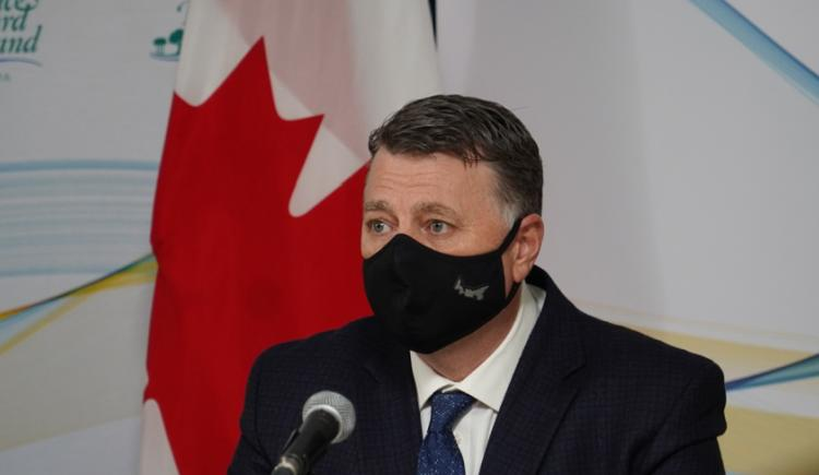 Image of a person wearing a non medical mask