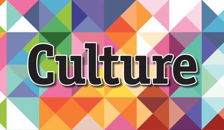 "A multi-coloured graphic with text ""Culture"" in foreground"