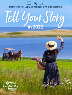 Cover capture fo Tourism PEI Advertising Opportunities booklet for operators 2022
