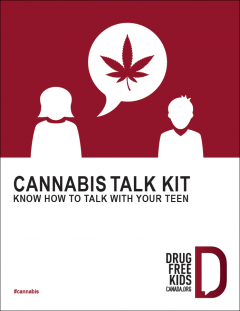 An image of the front cover of the Cannabis Talk Kit for parents