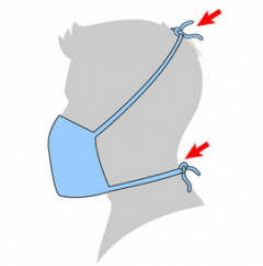 Graphic image of no-sew mask