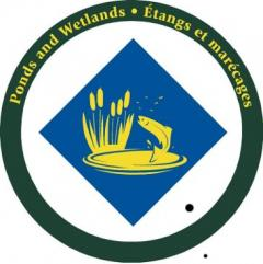 The Ponds and Wetlands sign includes a trout jumping to catch flying insects