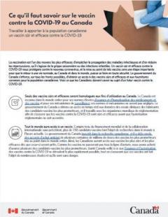 Ce qu'il faut savoir sur le vaccin contre la COVID-19 au Canada publication